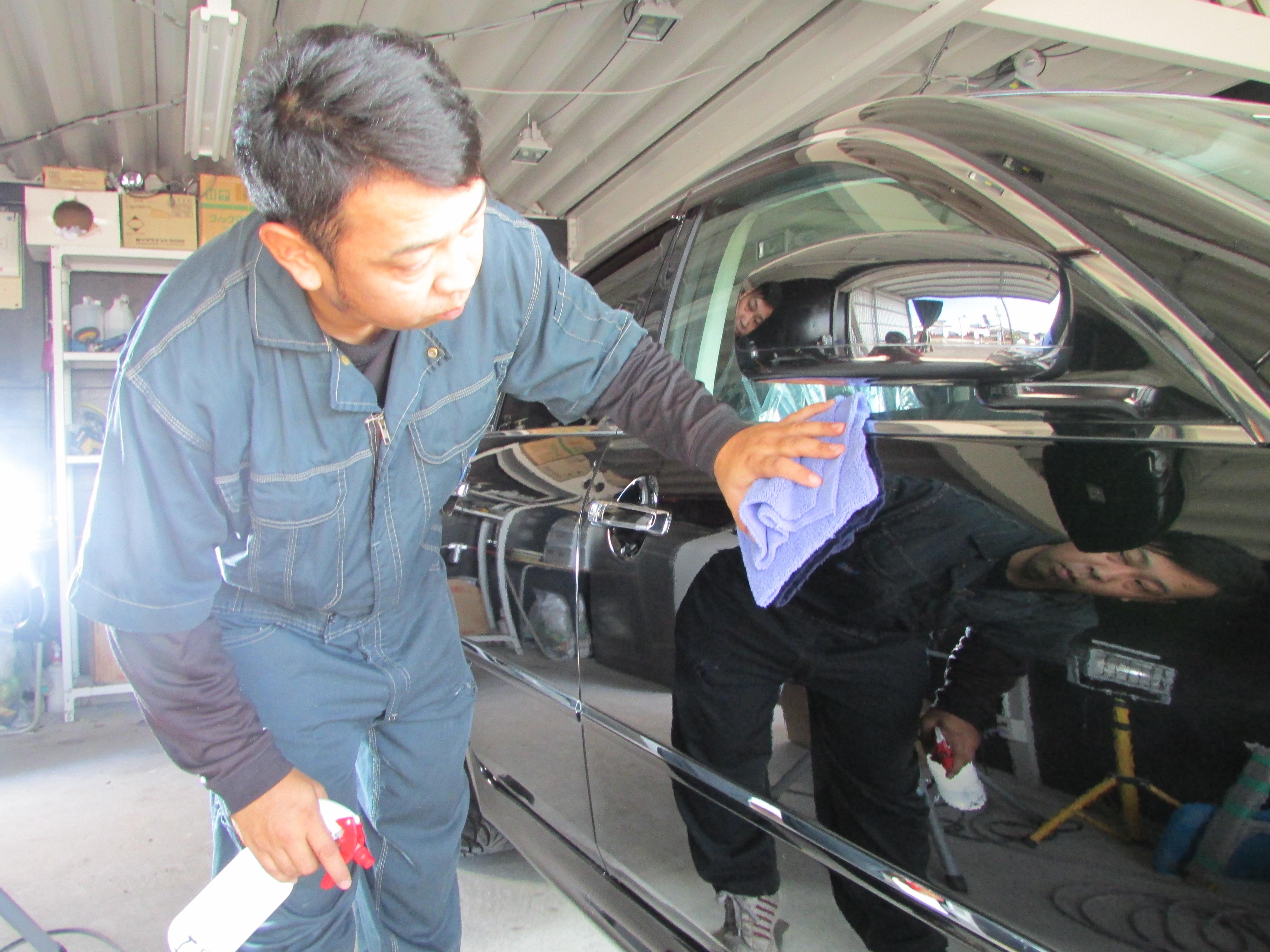 車磨き スクラッチシールド