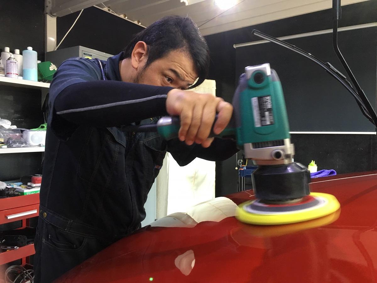 車磨き 2工程研磨 ルノー・キャプチャー 宮崎 ファインファクトリー