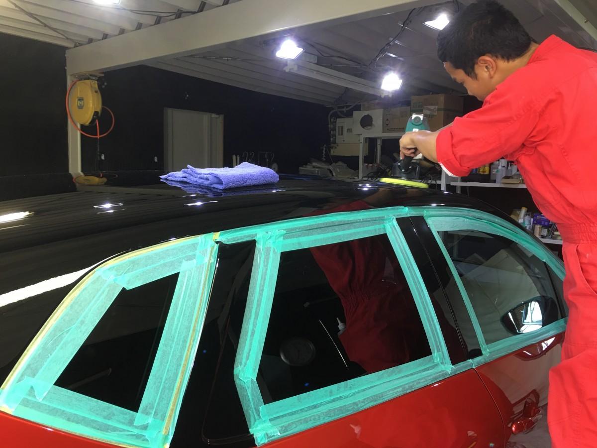 車磨き研磨の技術で新車コーティング ルノー・キャプチャー 宮崎 ファインファクトリー